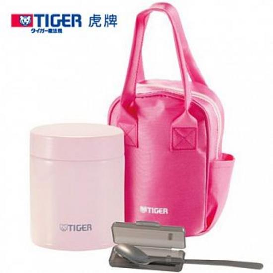 圖片 虎牌500cc提袋+小湯匙(與MCJ-A050同款)燜燒罐PF粉紅色MCJ-A050-PF