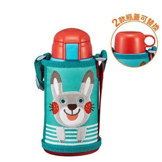 圖片 虎牌600cc童用兩用款/有吸管(與MBR-S06G/MBR-T06G同款)保溫瓶AR兔子MBR-T06G-AR