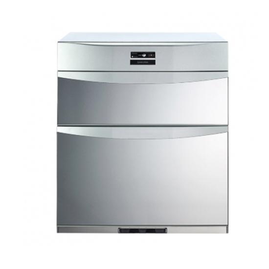 圖片 【結帳享優惠】(全省安裝)櫻花落地式熱風循環臭氧殺菌高68cm(與Q7592B同款)烘碗機銀色Q-7592B