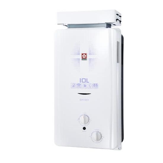 圖片 (全省安裝)櫻花10公升抗風型ABS防空燒(與GH1021/GH-1021同款)熱水器天然氣GH-1021N