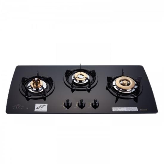 圖片 (全省安裝)林內美食家三口檯面爐黑色與白色瓦斯爐 RB-3GMB