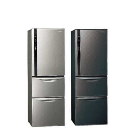 Panasonic國際牌385公升三門變頻冰箱絲紋灰NR-C389HV-L