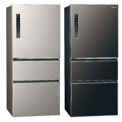 Panasonic國際牌610公升三門變頻鋼板冰箱絲紋黑NR-C610HV-V