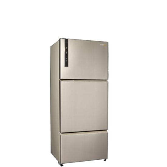 圖片 聲寶530公升三門變頻冰箱香檳銀SR-B53DV(Y6)