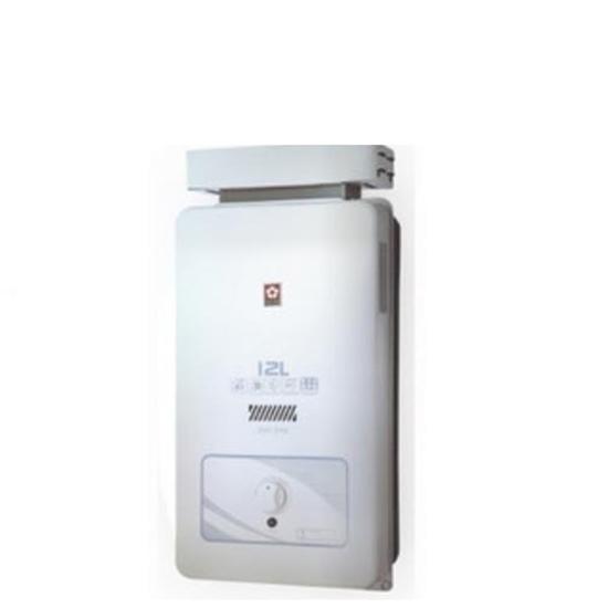 圖片 【結帳享優惠】(全省安裝)櫻花12公升抗風(與GH1206/GH-1206同款)熱水器桶裝瓦斯GH-1206L
