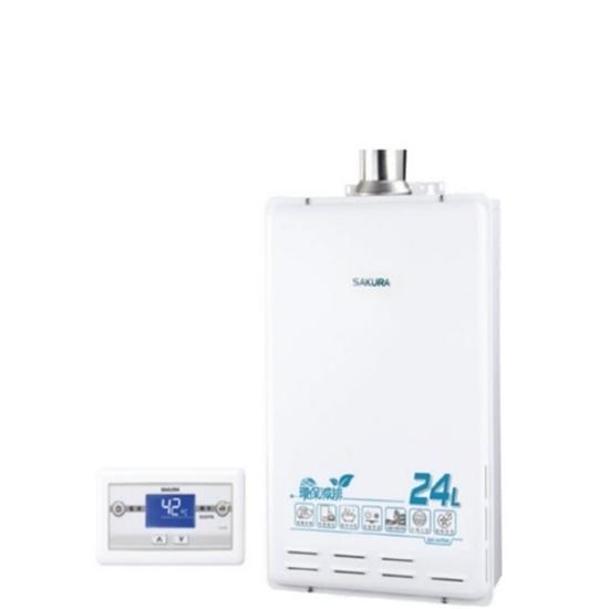 圖片 【結帳享優惠】(全省安裝)櫻花24公升強制排氣(與SH2470AFE/SH-2470AFE同款)熱水器桶裝瓦斯SH-2470AFEL_預購