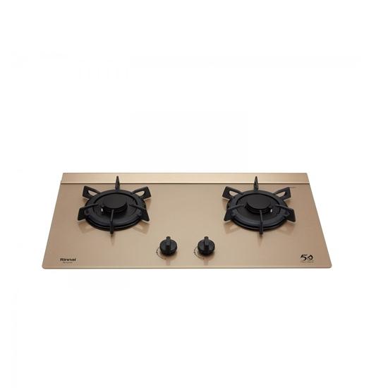 圖片 (全省安裝)林內檯面式LOTUS蓮花爐二口爐玻璃天板瓦斯爐桶裝瓦斯RB-F2610G(K)_LPG