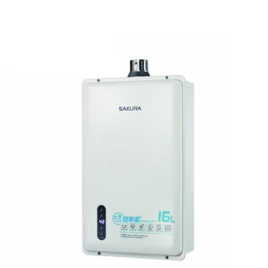 圖片 (全省安裝)櫻花16公升強制排氣(與DH-1635E/DH1635E同款)熱水器桶裝瓦斯DH-1635EL