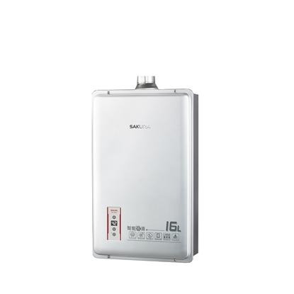 (全省安裝)櫻花16公升強制排氣(與DH1603/DH-1603同款)熱水器天然氣DH-1603N