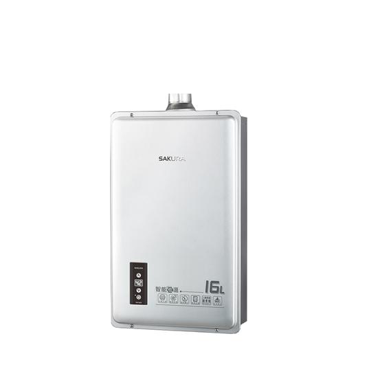 圖片 (全省安裝)櫻花16公升強制排氣(與DH1605/DH-1605同款)熱水器天然氣DH-1605N