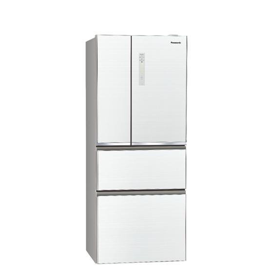 Panasonic國際牌500公升四門變頻玻璃冰箱翡翠白NR-D501XGS-W