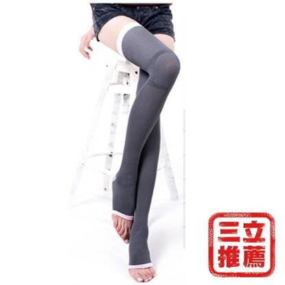 【Asedo 亞斯多】夜寢纖腿塑型腿襪-奈米竹炭(S9-1D)-電