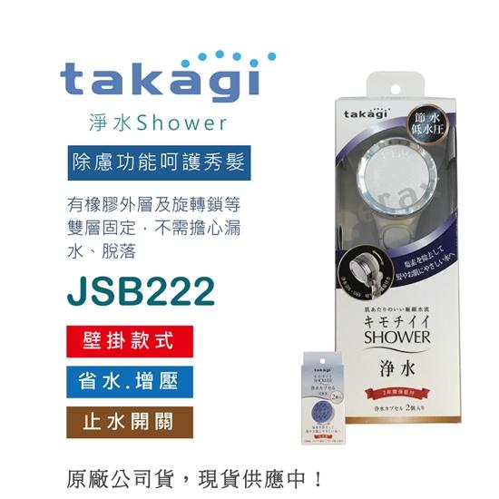 圖片 【日本Takagi】舒適 淨水 Shower 蓮蓬頭 可切換止水開關 附2入除氯濾心(JSB222)