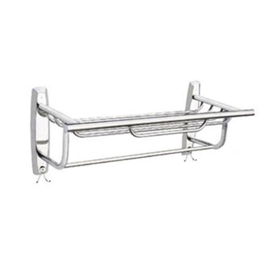 圖片 不銹鋼雙層置衣籃架附掛鉤 加強版-59公分
