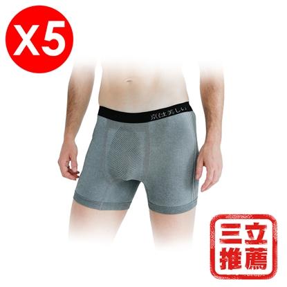 【京美】竹炭銀纖鍺能量抗老保健帝王褲(5入/組)-電