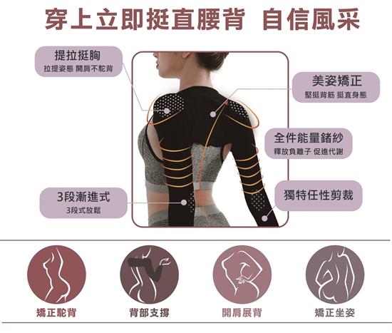 圖片 【京美】自然挺鍺紗能量防駝衣(4入)-電
