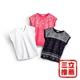 VERTEX 法國設計激光燒花蕾絲美型衣3件組(藍 、白、紅)-電