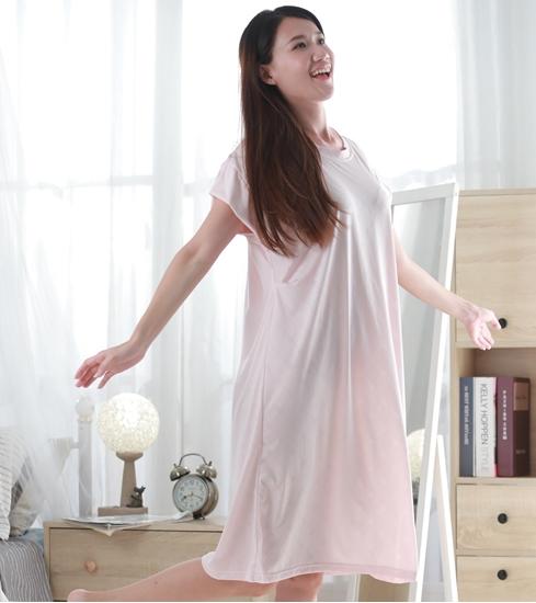 圖片 (預購中/8月15日後出貨)睡美能 舒眠睡衣 單入組(短袖裙款)-電