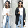 圖片 VERTEX 空氣感立體鬆織 羊毛披肩外套 (2件組)-電