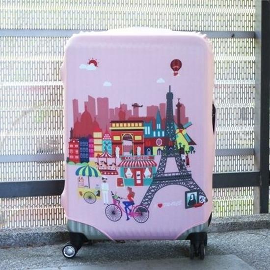 【Intermission】LCS427巴黎定位 L號26-29吋日版彈力拉桿箱保護套 行李箱套