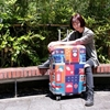 【Intermission】LCS389倫敦噴繪 L號26-29吋日版彈力拉桿箱保護套 行李箱套