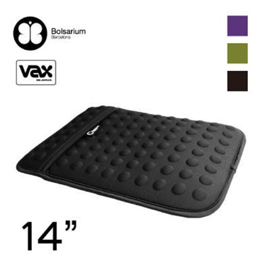 【OUI「為」精品】歐洲名品VAX BOLSARIUM 豆豆包 長天鵝絨防震包14吋 - 四色可選