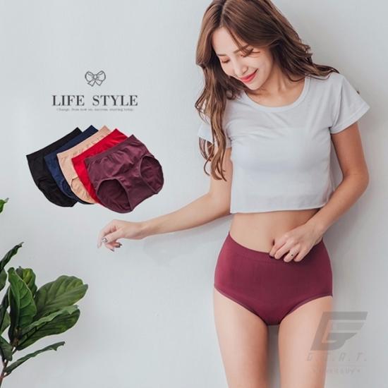 圖片 【GIAT】台灣製萊卡超彈力無痕美臀褲(5件組)