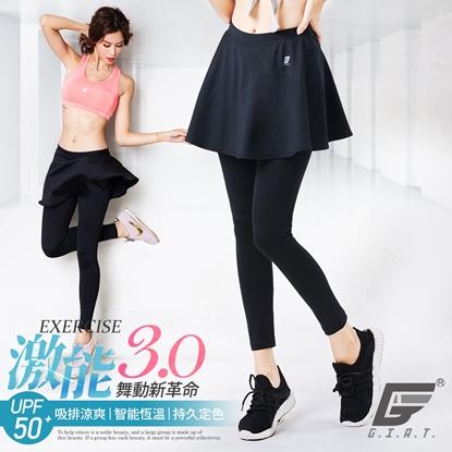 【GIAT】台灣製激能3.0排汗防曬壓力裙褲