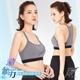 【GIAT】台灣製激氧力美型吸排運動BRA(附襯墊)-麻灰色