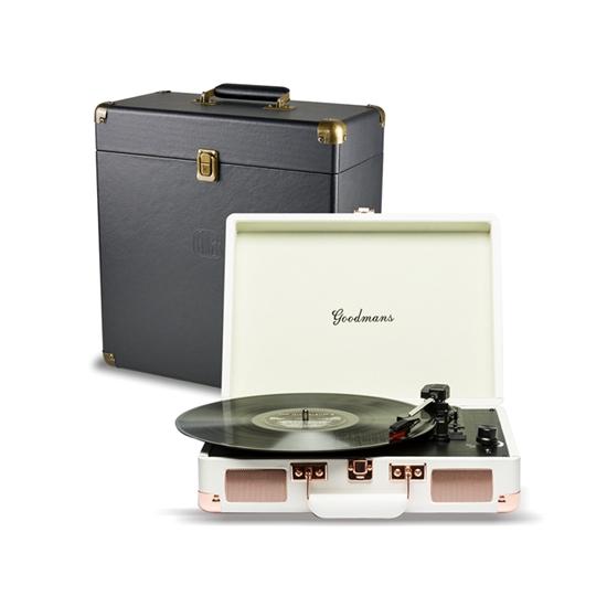 圖片 Goodmans Ealing Turntable英國手提箱黑膠唱片機黑膠機復古留聲機黑膠喇叭唱機 一年保固