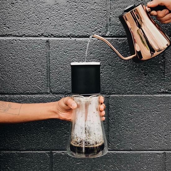 圖片 FELLOW Stagg Double Wall Carafe 雙層玻璃咖啡濾壺-含矽膠蓋