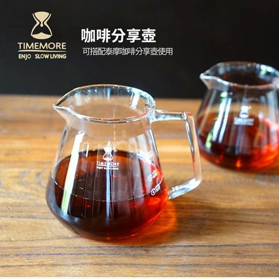 圖片 TIMEMORE泰摩冰瞳手沖咖啡套裝組 (玻璃分享壺360ml+PC濾杯01號1~2人份)