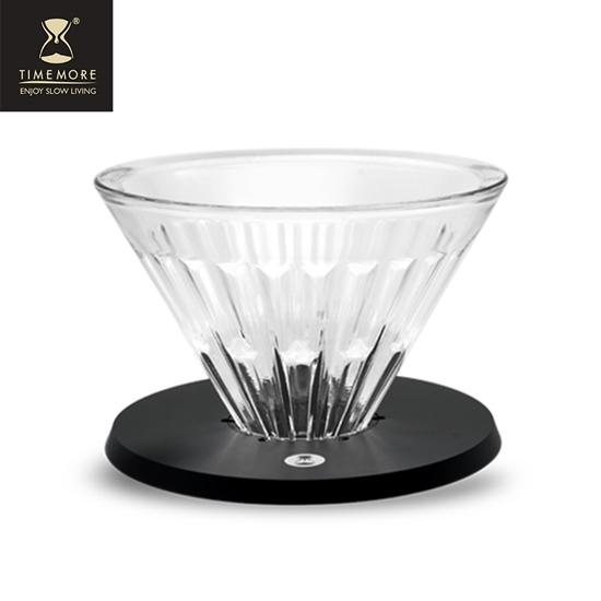 圖片 TIMEMORE泰摩【玻璃】冰瞳手沖咖啡濾杯01號-(1~2人份)送濾紙『2入組』