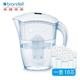 【Brondell】美國邦特爾 H2O+ 純淨濾水壺 (白)+八周長效濾芯(10入)