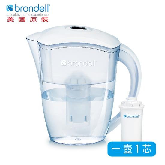 圖片 【Brondell】美國邦特爾 H2O+ 純淨濾水壺 (白)