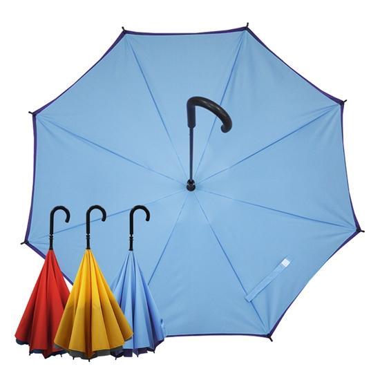 圖片 【Kasan 晴雨傘】防風反向上收式雨傘