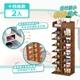 【家適帝】創新雙骨加穩多格收納鞋櫃 2入 (8層/14格)