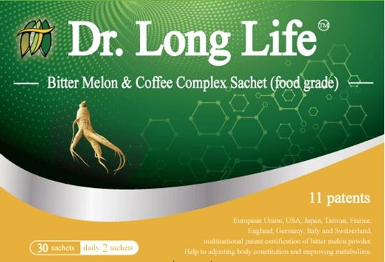 圖片 【Dr. Long Life 】超博士多國專利苦瓜胜肽&綠咖啡&花旗篸沖調飲