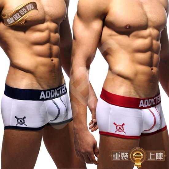 圖片 ADDICTED棒球大聯盟驕囊超低腰平角褲 激凸性感 型男狂潮 BX0205