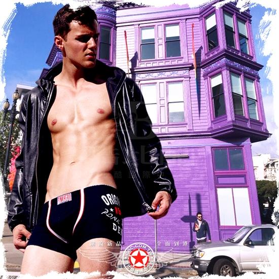圖片 【PINK HERO】原味牛仔純棉平角褲 貼身 四角褲 BX0356
