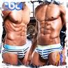 圖片 【SEEINNER】體育系彈力棉低腰窄版條紋三角內褲 激凸性感 型男狂潮 BF0071