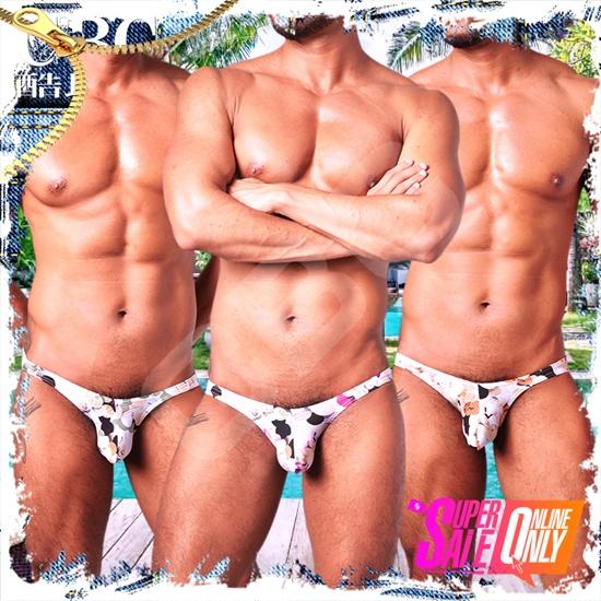 圖片 【SHINO WOXUAN】國境之南島嶼風比基尼小三角褲 激凸性感 猛男必備 BF0151