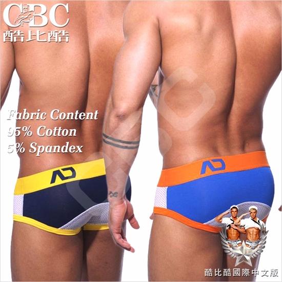 圖片 【ADDICTED】高透氣網布嵌拼色低腰三角褲 激凸性感 型男狂潮 BF0203