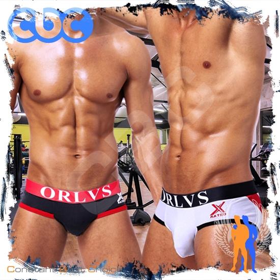 圖片 ORLVE X級歐式特窄版超低腰純棉三角褲BF0101