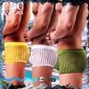 圖片 SHINO WOXUAN肌透光巢網鏤空平口褲BX0051