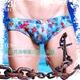 EUSSIEINQ   夏日花海窄版三角男泳褲 SW0152