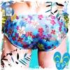 圖片 EUSSIEINQ   夏日花海窄版三角男泳褲 SW0152