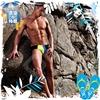 圖片 ADDICTED  時尚拚色窄版三角男泳褲 激凸 性感 型男 狂潮 SW0063