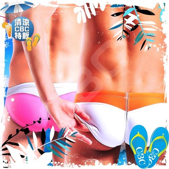 圖片 Desmiit  奶油冰淇淋低腰窄版三角泳褲 激凸 性感 型男 狂潮 SW0007