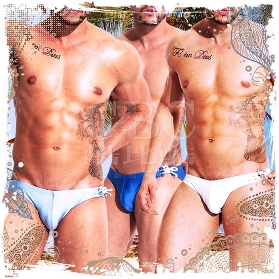 圖片 DESMIIT  炫肌側繫繩比基尼三角泳褲 激凸性感 型男狂潮 SW0019